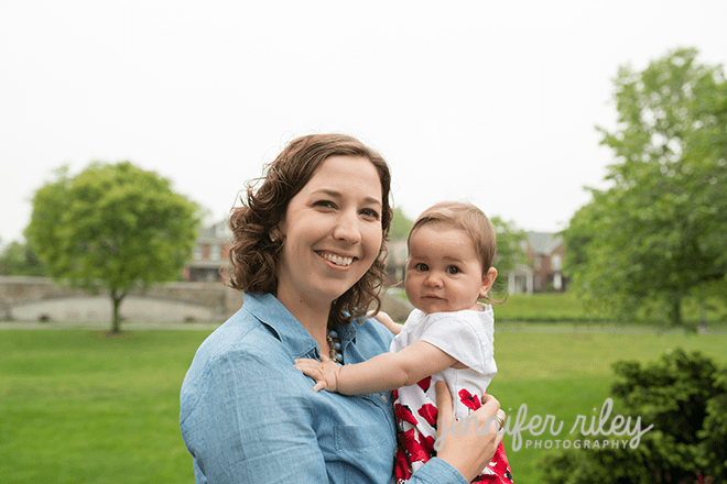 six month old photography session