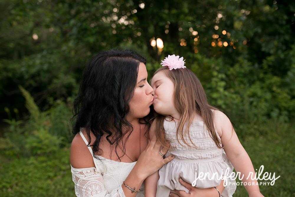 Mama and Baby Kissing
