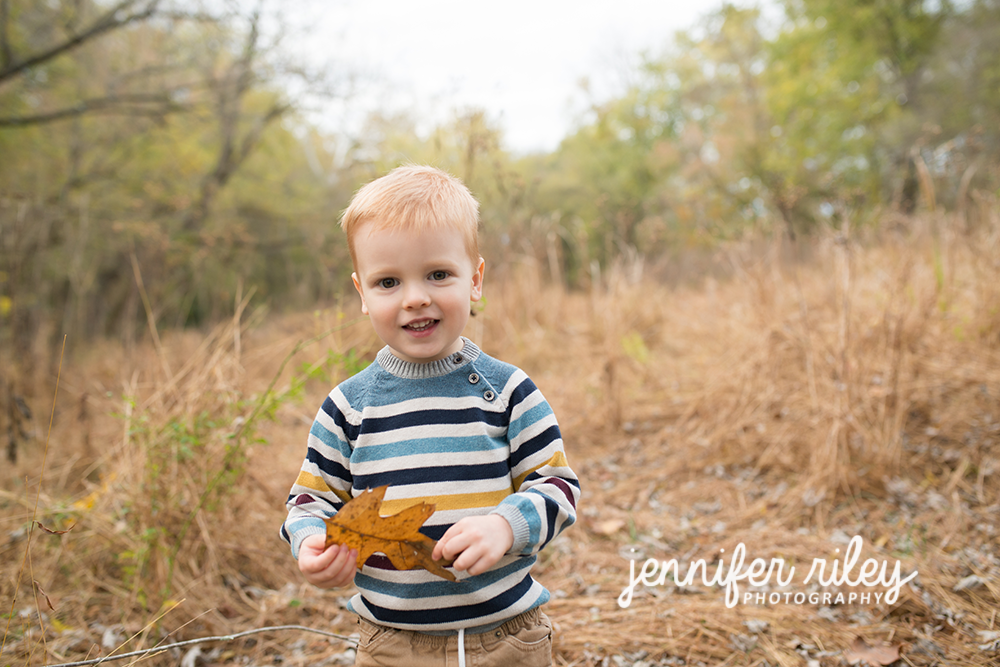 Boy and Leaf Family Photography