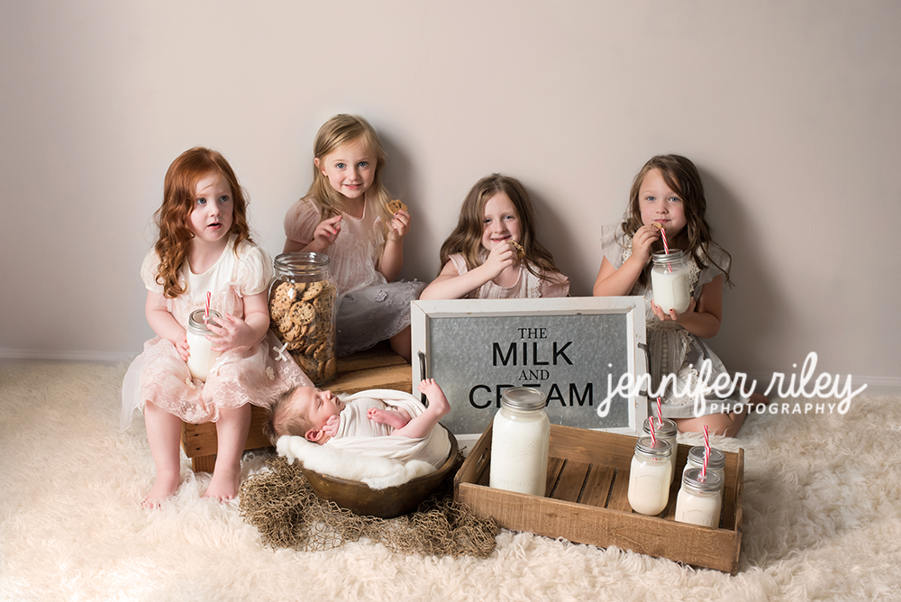 Milk and Cookies Newborn Photography