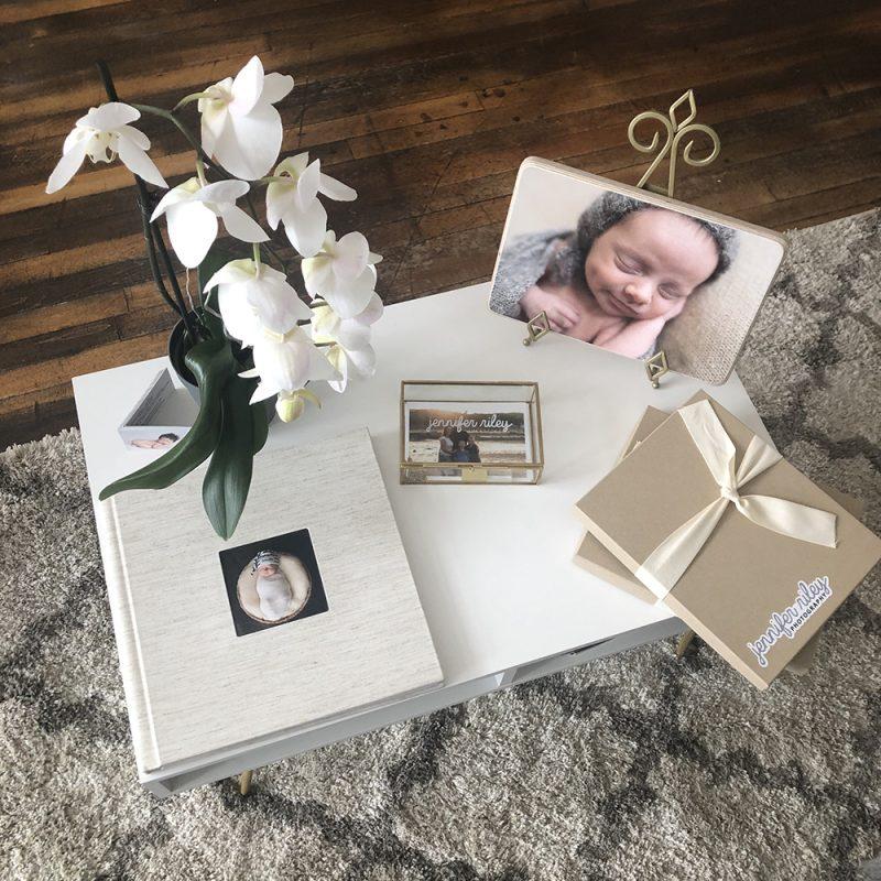 Custom Album, USB Drive and Vintage Wood Print