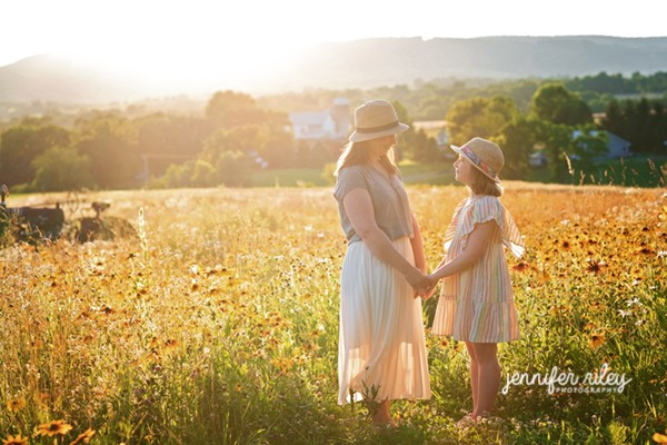 Flower Field Family Photography Maryland